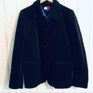 Tommy Hilfiger Black Velvet Velour Jacket Blazer